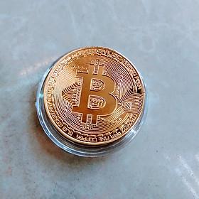 Đồng Bitcoin Mạ Vàng