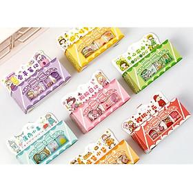 Hộp Washi Tape 5 Cuộn Băng Keo Sticker Giấy Trang Trí Sổ Lưu Niệm DIY
