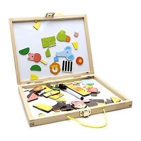 Đồ chơi trí tuệ - Hộp ghép tranh nam châm cho bé thoả sức sáng tạo BK127