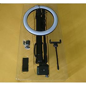 Bộ đèn LED Livestream 26Cm 3 chế độ màu tích hợp giá kẹp điện thoại và chân tripod 1 mét 4 - Hàng nhập khẩu