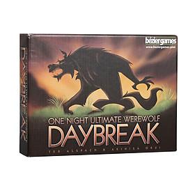 Boardgame Ma Sói One Night Ultimate Daybreak thời lượng 10 phút chơi cho nhóm bạn 3-7 người