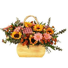 Hộp hoa tươi - Hướng Dương Khoe Sắc 3955