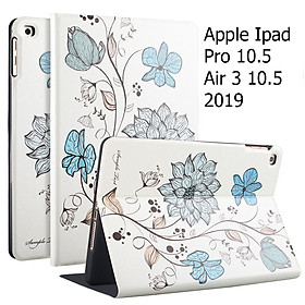 Bao Da Cover Dành Cho Apple Ipad Pro 10.5 / Air 3 10.5 2019 Hỗ Trợ Smart cover Hoa Văn Dễ Thương
