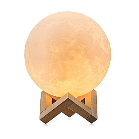 3D Moon Modern Lamp 880ML Humidifier Lunar Light with 3 Color Night Light LED Desk Moon Lamp with Cool Mist Humidifier