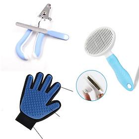 Combo 3 món dụng cụ vệ sinh cho chó mèo - XD001DC3