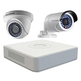 Trọn bộ 2 Camera giám sát HIKVISION TVI 2 Megapixel DS-2CE56D0T-IR chuẩn Full HD - Hàng chính hãng