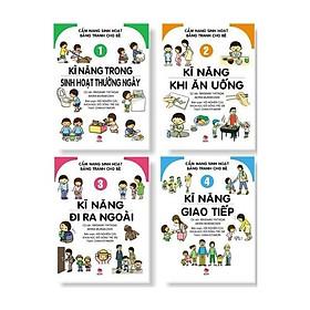 Sách kỹ năng - Cẩm nang sinh hoạt bằng tranh cho bé (bộ 4 cuốn)