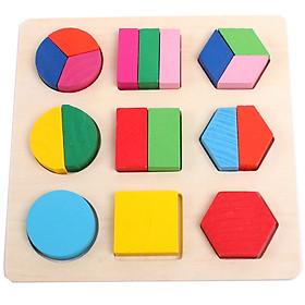 Bảng Ghép Gỗ Hình Học 1-3 Miếng. Đồ Chơi Giáo Dục Sớm Montessori ETED13NYN1647