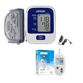 Máy Đo Huyết Áp Bắp Tay Omron Hem-8712 + Tặng Bộ Đổi Nguồn Thường + Tặng bộ máy đo đường huyết Safe - Accu (25 kim+25 que)