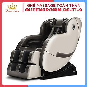 Ghế Massage QUEEN CROWN 3D T1-9 Chất Lượng Cao - Máy Massage Toàn Thân Tích Hợp Nhiệt - Quà Tặng Ý Nghĩa Cho Người Thân