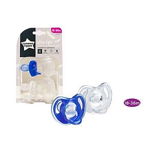 Ty ngậm silicon siêu nhẹ cho bé Tommee Tippee 18-36 tháng (vỉ 2 cái) - Xanh dương/Trắng