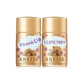 Bộ đôi sữa chống nắng bảo vệ hoàn hảo Anessa Gold Limited 20mlx2