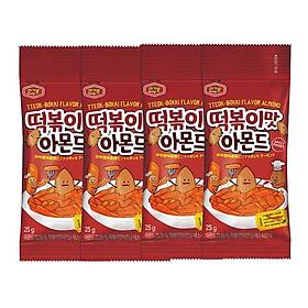 Hạnh nhân Hàn Quốc chính thống Murgerbon vị bánh gạo chiên cay (25g)X4