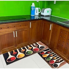 Bộ 2 thảm nhung nhà bếp gia vị TSN53