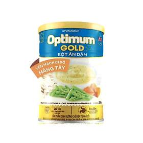 BỘT ĂN DẶM OPTIMUM GOLD YẾN MẠCH BÍ ĐỎ MĂNG TÂY – HỘP THIẾT 350G