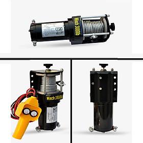 Tời cứu hộ loại 3000LBS (1361 kg)  loại dùng điện ắc quy 12v/24V