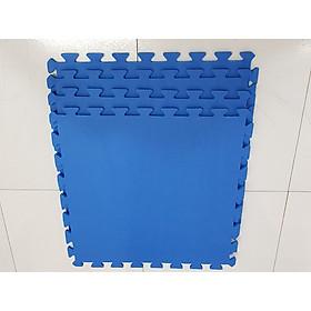 Combo 4 tấm Thảm Cho Trẻ Thơ Trơn 60cmx60cm màu xanh dương
