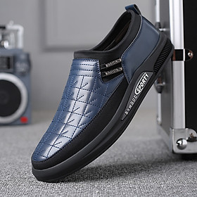 Trendy shoes, fashion large size over-foot shoes, casual breathable wear-resistant men's leather shoes