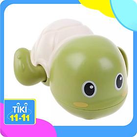 Đồ chơi cho bé - Combo 2 đồ chơi rùa bơi chạy bằng cót cho bé (màu trắng xanh )