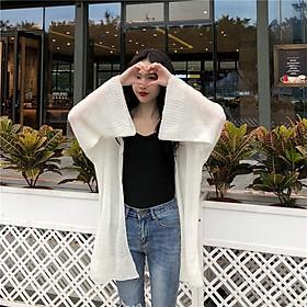 Áo khoác len vải mỏng thiết kế thoải mái thời trang mùa thu hàn quốc