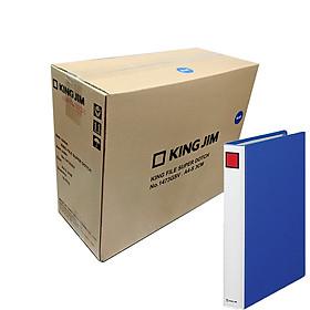 Thùng 10 File đựng tài liệu A4S - 3cm - KING JIM 1473GSV còng ống cao cấp