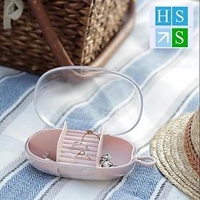 Hộp đựng trang sức mini, hộp đựng dây chuyền nhẫn bông tai nhỏ gọn xinh xắn - Phù hợp mang theo du lịch