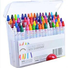 Hộp bút sáp 64 màu cho bé tập tô