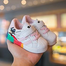 Giày trẻ em dáng thể thao giày cho bé trai bé gái từ 0-4 tuổi siêu nhẹ chống trơn trượt gắn họa tiết Mickey G24