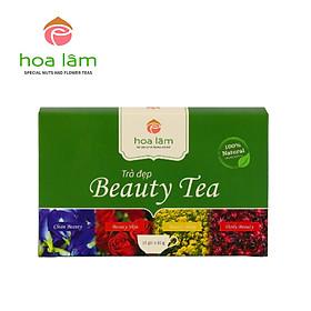 Beauty Tea - Trà Đẹp (Trà Kim cúc, Hoa hồng, Hoa atiso, Hoa đậu biếc kết hợp Táo đỏ, Kỳ tử, Long nhãn) dưỡng nhan, thanh lọc cho cơ thể, đẹp da- dáng xinh.