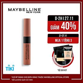 Son kem lì nhẹ môi Maybelline New York phiên bản tông đất giới hạn Sensational Liquid Matte 7ml
