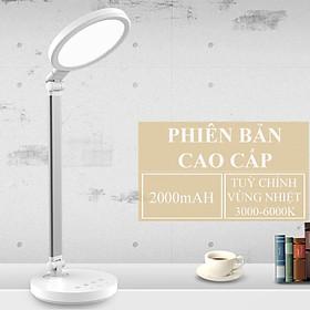 Đèn Bàn Học Đọc Sách Làm Việc LED Cảm Ứng Cao Cấp  2000mAh - Chống Cận - 3 Cấ Độ Điều Chỉnh - Vùng Sáng 3000-6000K Tùy Thích -  Gập 2 Chỗ Tiện Lợi – Bảo Vệ Đôi Mắt
