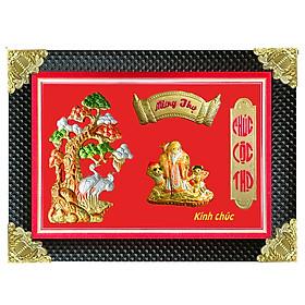 Tranh Đồng Mừng Thọ Hình Ông - Tôn Đản (50 x 70cm)