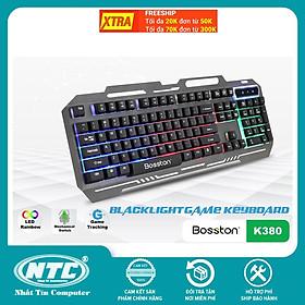 Bàn phím giả cơ chuyên game Bosston K380 Led đa màu (Đen) - Hàng chính hãng