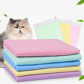 Khăn tắm khô nhanh cho chó mèo (2 size - màu ngẫu nhiên) Khăn tắm siêu thấm nước cho thú cưng