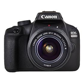 Máy Ảnh Canon 4000D Kit 18-55MM F3.5-5.6 III - Hàng Nhập Khẩu (Tặng Thẻ 16GB + Tấm Dán LCD)