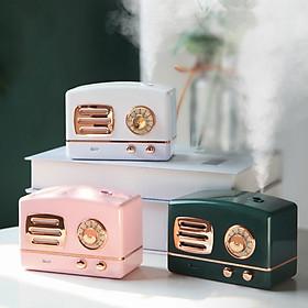 Máy Phun Sương Mini Hình Đài Cassette Hơi Nước Tạo Ẩm, Khử Mùi Trong Phòng Có Đèn Led Ngủ (Tặng Kèm Dây Sạc) - MP146