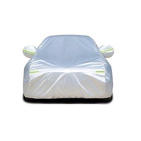 Bạt phủ xe ô tô một lớp vải dù Polyester Oxford Fabric chống thấm nước hoàn hảo che xe ôtô 4 chỗ đến 7 chỗ