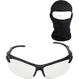 Bộ Kính Phân Cực Nhìn Xuyên Đêm Tặng Khăn Trùm Ninja - Đen