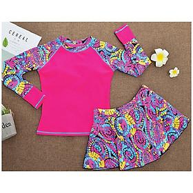 Đồ bơi bé gái chân váy rời phối nhiều màu rất đẹp size từ 30kg đến 50kg