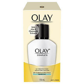 Olay Complete UV Protection Moisturiser Lotion Sensitive SPF15 150mL