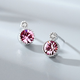 Bông Tai Bạc Nữ Đính Đá Lấp Lánh B2629 - Bảo Ngọc Jewelry