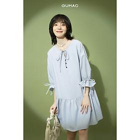 Đầm nữ buột nơ bèo tùng GUMAC DB1155