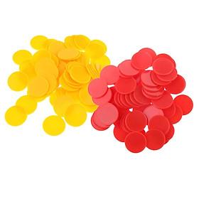 200 Miếng Nhựa Dẻo Chip Poker Lô Tô Dấu Cóc Cho Đảng Sòng Bạc Oard Trò Chơi Đồ Chơi Đỏ Vàng