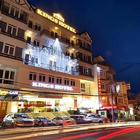 [Giá Kích Cầu] Kings Hotel 4* Đà Lạt - Gần Hồ Xuân Hương & Chợ Đà Lạt, Gồm Bữa Sáng, Khách Sạn Ngay Trung Tâm