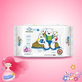 Khăn ướt làm sạch tinh khiết dành cho bé Oma&Baby với công thức Chlorhexidine Digluconate kháng khuẩn an toàn, dịu nhẹ trong khăn ( 85 tờ ) - Oma&Baby premium baby wet wipes ( 85 sheets per package)