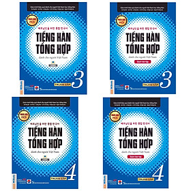 Combo (4 Cuốn) Giáo Trình Tiếng Hàn Tổng Hợp Trung Cấp Dành Cho Người Việt Tập 3 + Tâp 4 ( Sách Giáo Khoa + Sách Bài Tập) - Phiên Bản Đen Trắng