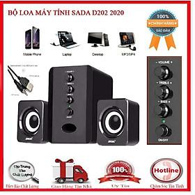 { HOT } Bộ 3 Loa Siêu Trầm Bluetooth Gaming SADA D-200T Dùng Cho Máy Vi Tính PC, Laptop, Tivi