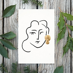 Tranh Poster Phong cách tối giản, Bohemian, Lady, Lifestyle, Fashion, Minimalism, Pastel, SOYN PTK003