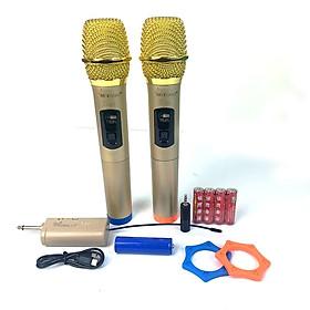 Bộ 2 Micro Không Dây karaoke VINETTEAM S30 cao cấp ,Sóng UHF Dành Cho Amly , Loa Kéo - Hỗ Trợ Các Thiết Bị Có Jack Cắm 3.5mm Và 6.5mm 2 Chống Lăn Mic , 04 Viên Pin-4393- Hàng chính hãng