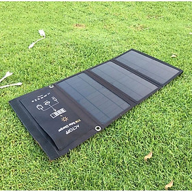 Pin sạc dự phòng năng lượng mặt trời 5V21W - Cho dân phượt, quân đội, xe ôm công nghệ, đi biển ..